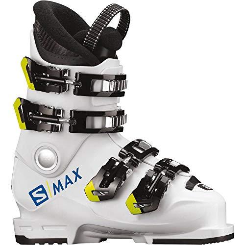 Salomon Unisex Jugend S/Max 60T L Skistiefel, White/Acid Green, 24
