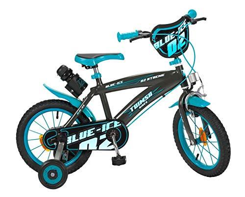 Toimsa 16' 16 Zoll Kinderfahrrad Kinder Jungen Fahrrad Rad BMX Bike Jungenfahrrad Blue Ice