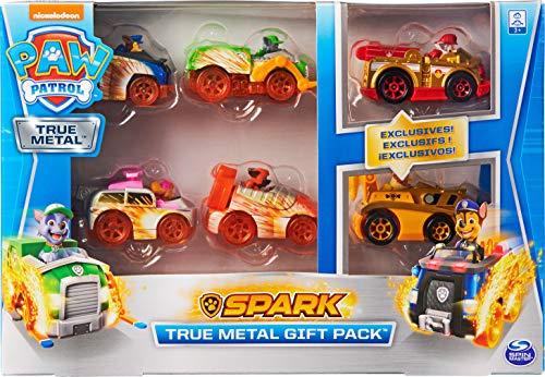 PAW Patrol True Metal Geschenkset mit sechs Metall - Fahrzeugen - Spark Version