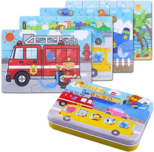BBLIKE Kinderpuzzle Spielzeug, 64Pcs Puzzles für Kinder, Vier schwierigkeitstufen Lernspielzeug Spiel...