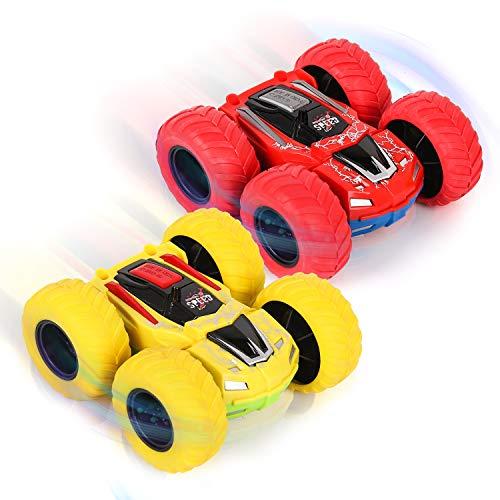 Shayson Spielzeugautos für Kinder ab 3 Jahre alt, 2 Stück Kinderspielzeug Auto mit 360 Grad Rotierende...