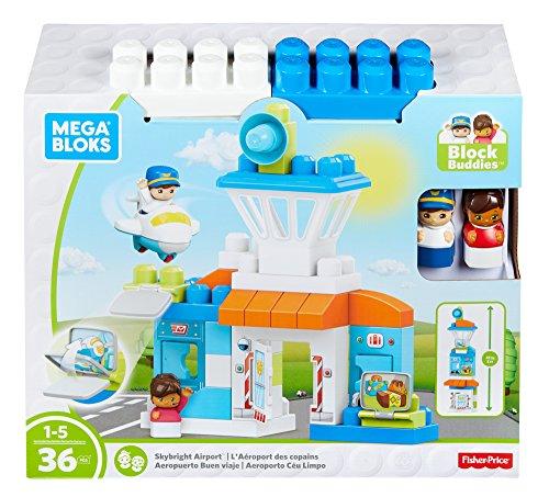 Mattel Mega Bloks DPJ56 Flughafen, Bau und Konstruktionsspielzeug