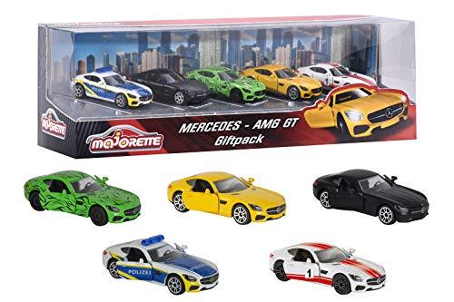 Majorette 212053163 - Mercedes AMG Geschenkset, Miniaturfahrzeuge, 5 Spielzeugautos, 7,5cm