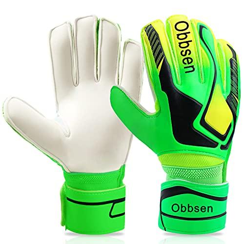 Obbsen Torwarthandschuhe für Kinder Jugendliche, Fußball Handschuhe Torwart mit Fingersave-Schutz und...