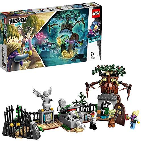 LEGO Hidden Side 70420 Mysterium auf dem Friedhof, Spielzeug für Kinder mit Augmented Reality Funktionen