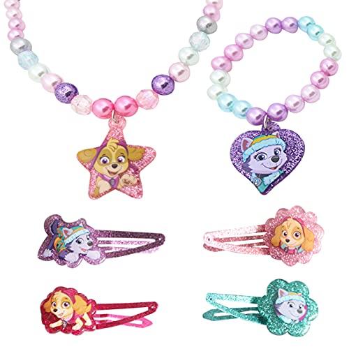 Miotlsy Schmuck Mädchen Paw Patrol Armband Halskette Kinder mit Fuchs Schneeflocke Kuchen Anhänger...