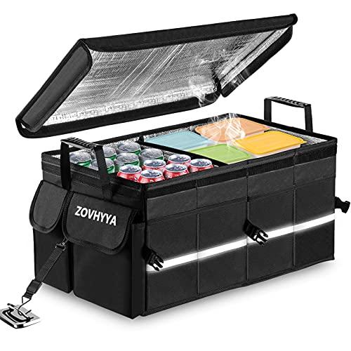 ZOVHYYA Auto Kofferraum Organizer 68L Auto Kofferraumtasche Kofferraum Box Wasserdicht Tragbar Faltbar...