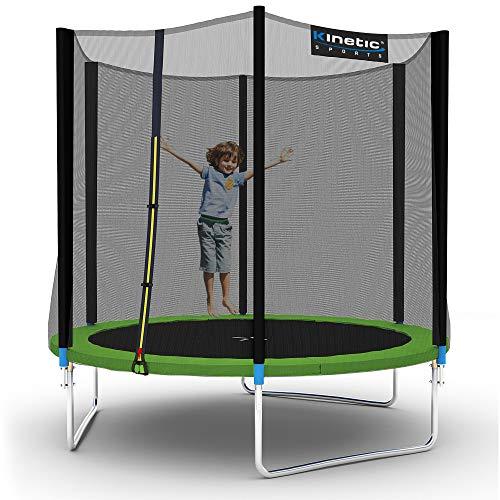 Kinetic Sports Outdoor Gartentrampolin Ø 250 cm, TPLH08, Komplettset inklusive Sprungtuch aus USA...