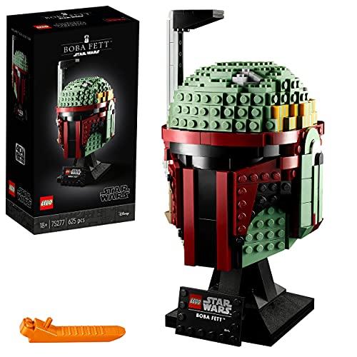 Lego 75277 Star Wars Boba Fett Helm, Schaustück, Bauset zum Sammeln für Erwachsene, Geschenksidee für...