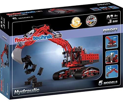 fischertechnik Hydraulik Spielzeug Bagger für Kinder mit realitätsnaher Hydraulik-Funktion und...