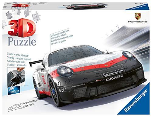 Ravensburger 3D Puzzle 11147 - Porsche 911 GT3 Cup, 3D Puzzle für Kinder und Erwachsene mit 136 Teilen,...