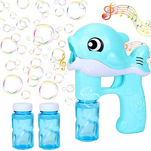 GUBOOM Seifenblasenpistole, Seifenblasenmaschine Kinder, Seifenblasen Spielzeug mit Seifenblasen...