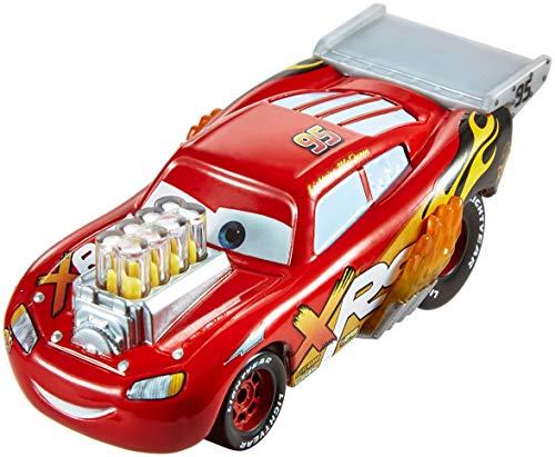 Disney Cars GFV34 - XRS Xtreme Racing Serie Dragster Rennen Die-Cast Spielzeugauto Lightning McQueen,...