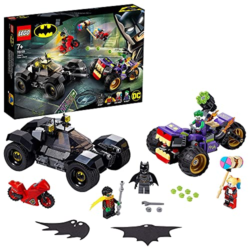LEGO 76159 Super Heroes DC Batman Jokers Trike-Verfolgungsjagd mit Batmobile, Harley Quinn & Robin...