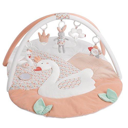 Fehn 062144 3-D-Activity-Decke Schwanensee | Spielbogen mit 5 abnehmbaren Spielzeugen für Babys Spiel &...