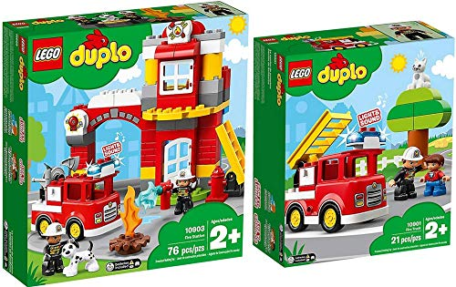 LEGO® Duplo 2er Set 10901 10903 Feuerwehrauto + Feuerwehrwache