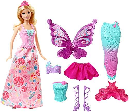 Barbie DHC39 - Modepuppen, 3-in-1 Fantasie Barbie