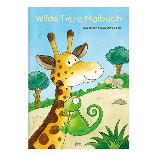 Kinder lieben Ausmalen! - Malbuch DIN A4, ab 3 Jahren, Wilde Tiere mit verschiedenen Tier- und...