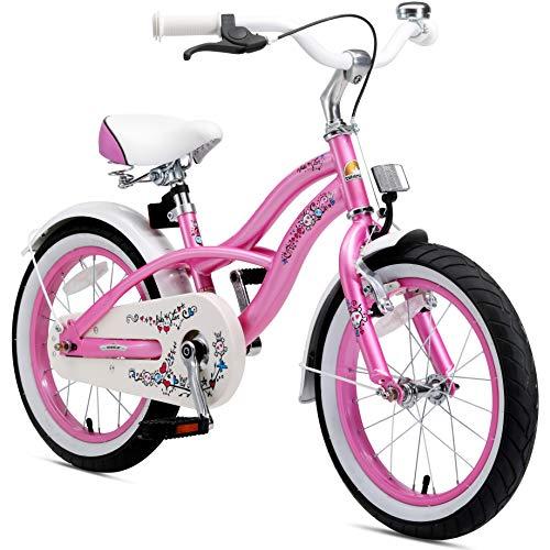 BIKESTAR Premium Sicherheits Kinderfahrrad 16 Zoll für Mädchen ab 4-5 Jahre | 16er Kinderrad Cruiser |...