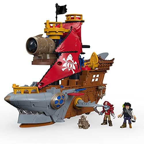 Fisher-Price Imaginext DHH61 - Pirates Haimaul-Piratenschiff, Spielzeug ab 3 Jahren