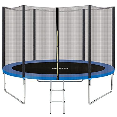 AMGYM Gartentrampolin Outdoor Trampolin Kindertrampolin 305 cm, Sprungfedern innovatives Elastik...