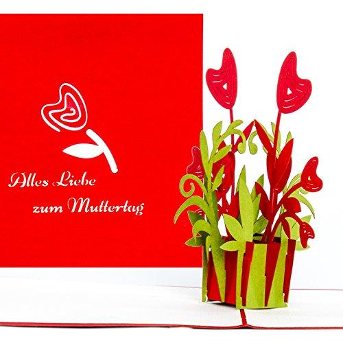 3D Muttertagskarte 'Alles Liebe zum Muttertag' – tolle Geschenkidee: Grußkarte als kleines Geschenk,...
