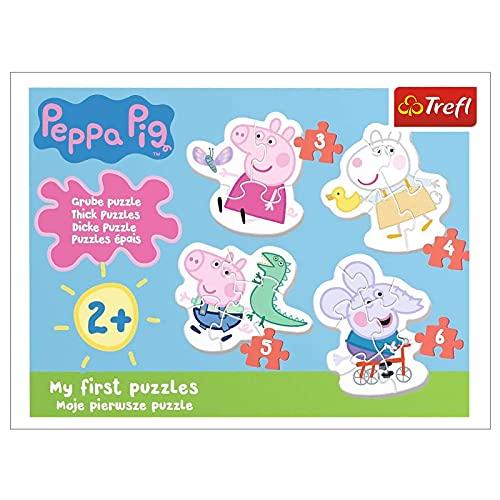 Trefl TR36086 Die reizende Wutz, Peppa Pig von 3 bis 6 Teilen, 4 Sets, Baby Classic, für Kinder ab 2...
