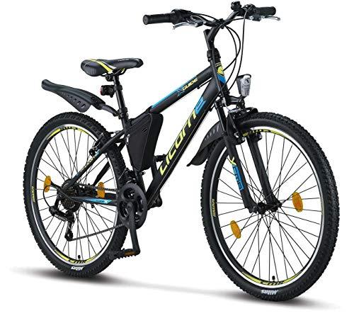 Licorne Bike Premium Mountainbike in 26 Zoll - Fahrrad für Mädchen, Jungen, Herren und Damen - Shimano...