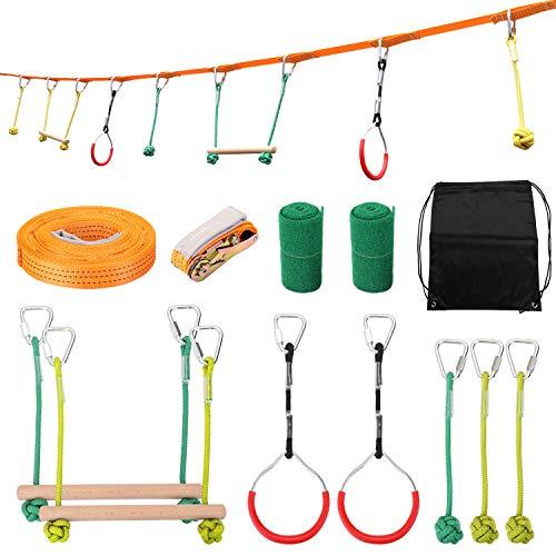 Benkeg Ninja-Seil - Kinder Klettern Ninja Seil Ninja Line Hindernis Trainingsgeräte Kinder Spaß Slack...