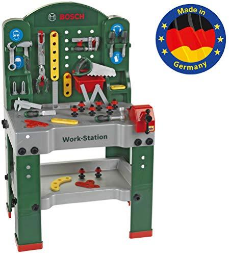 Theo Klein 8580 Bosch Work-Station I 44-teilig I Werkbank inkl. Arbeitssplatte mit Lernfunktion I Maße:...