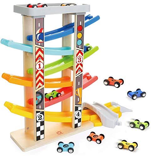 TOP BRIGHT Spielzeug-Autos für 1 2 3-Jährige - Autostrecke-Set für Kleinkinder mit 6 Mini-Autos,...