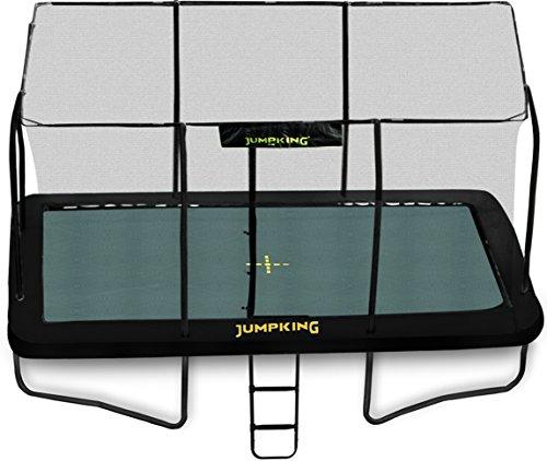 Jumpking Luxuriöses rechteckiges Trampolin mit Gehege, 3,70 x 2,40m (JKDR812B18)