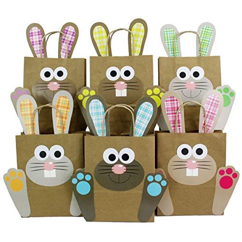 Papierdrachen DIY Osternester für Kinder mit bunten Osterhasen - Ostergeschenke für Kinder und...
