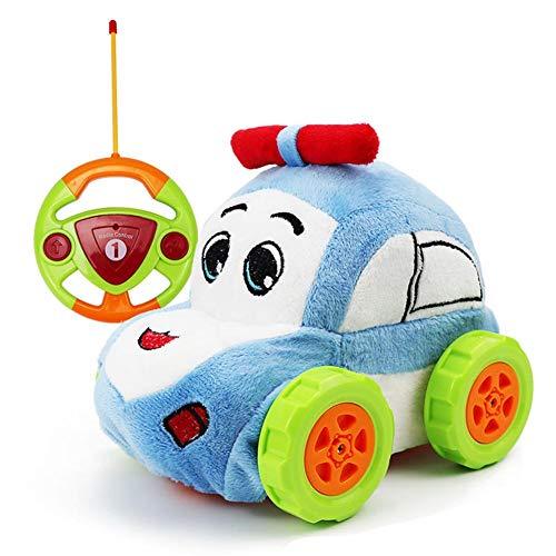 Plüsch Rc Auto Spielzeug, Rennauto Ferngesteuertes Spielzeugauto Für Kleinkinder, Waschbar Mini...