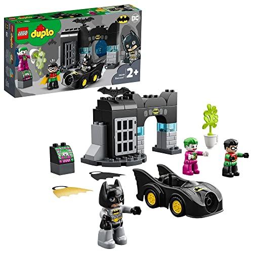 LEGO 10919 DUPLO Super Heroes DC Batman Bathöhle mit Batmobil und Joker, Spielzeugauto für Kleinkinder...