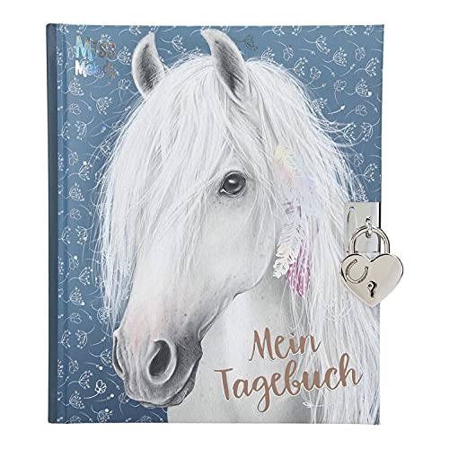 Depesche 11483 Miss Melody - Tagebuch mit Schloss und traumhaftem Pferde-Motiv, 192 linierte und...