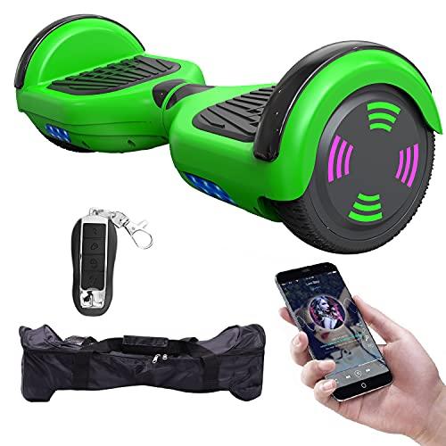 MICROGO Hoverboard für Kinder mit Fernbedienung & Tragetasche, Elektro Skateboard mit LED Leuchten &...
