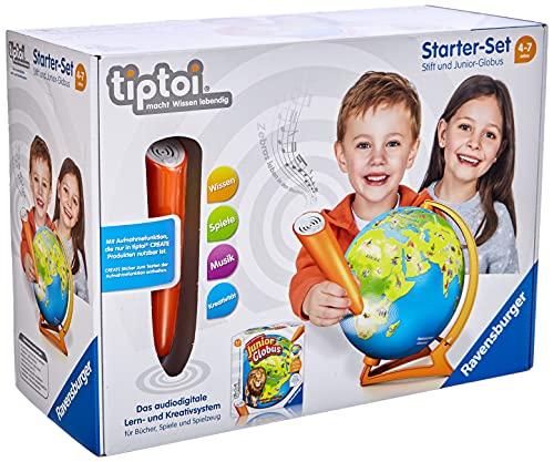Ravensburger Exklusives Tiptoi Starter-Set 00068: Stift und Junior-Globus-Lernsystem für Kinder ab 4...