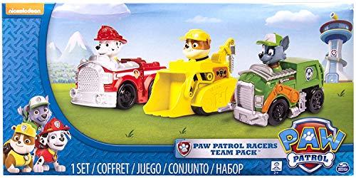 PAW Patrol 6024058 - Rettungsflitzer 3er Set - Version 1 (Marshall/Rocky/Rubble)