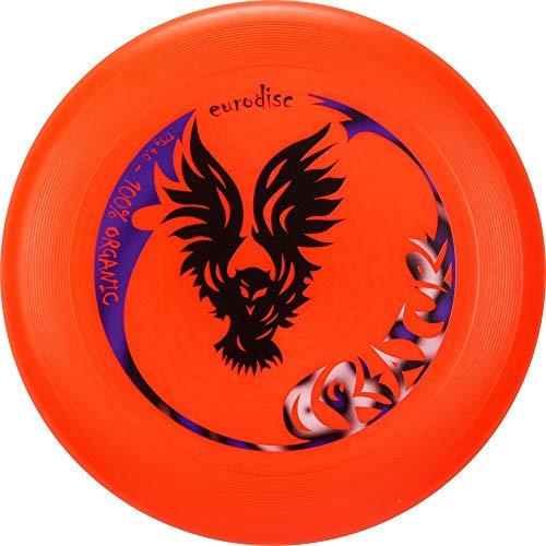 Eurodisc 175g Organic Ultimate Frisbee Creature ORANGE Wettkampfharte Wurfscheibe mit Stabiler Fugbahn...