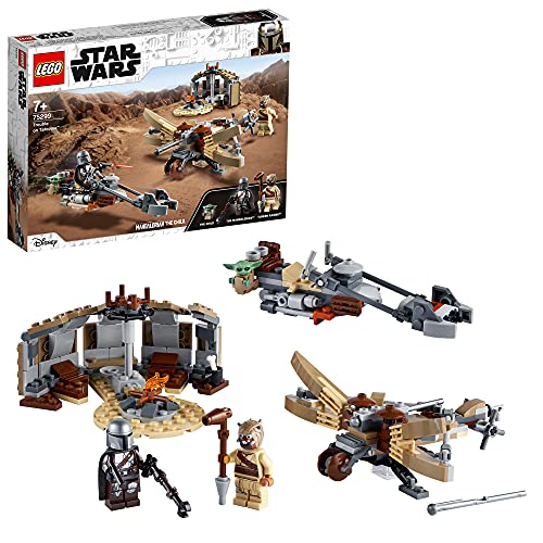LEGO 75299 Star Wars: The Mandalorian Ärger auf Tatooine Bauset mit Baby Yoda das Kind Figur, Staffel 2,...