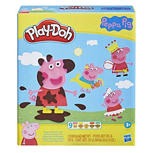 Play-Doh F1497 Peppa Wutz Stylingset mit 9 Dosen und 11 Accessoires, Peppa Wutz Spielzeug für Kinder ab...