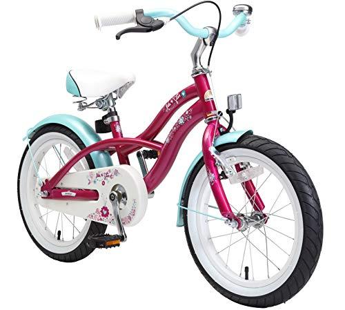 BIKESTAR Kinderfahrrad für Mädchen ab 4-5 Jahre | 16 Zoll Kinderrad Cruiser | Fahrrad für Kinder...
