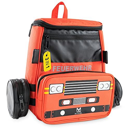 MIXIRL® 3in1 Kindergartenrucksack mit Federmäppchen Jungen | 3-7 Jahre | hochwertiger Kinderrucksack...