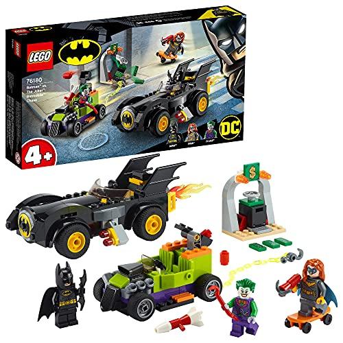 LEGO 76180 DC Batman vs. Joker: Verfolgungsjagd im Batmobil, Set mit Autos und Superhelden für Kinder ab...