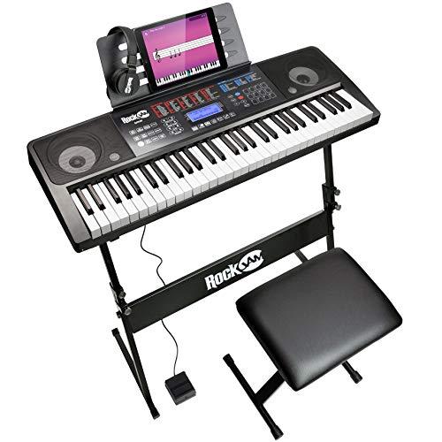 RockJam 61 Tastatur Klaviersatz 61 Schlüssel-Digital-Piano Keyboardbank Keyboardständer Kopfhörer...