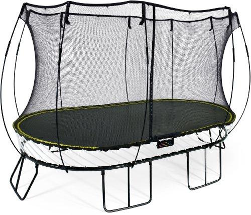 Springfree Trampolin O92 - Large Oval 240 cm x 400 cm Reine Sprungfläche (entspricht 300 cm x 460 cm)...