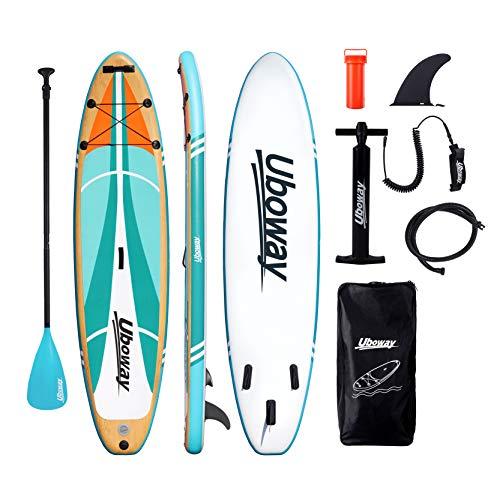 Signstek Stand Up Paddling Board Aufblasbares SUP Board Set Aufblasbar 305 * 80 * 15 cm 200KG Paddle...