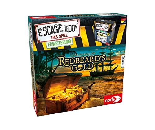 Noris 606101797 - Escape Room Erweiterung Redbeards Gold - Familien und Gesellschaftsspiel für...