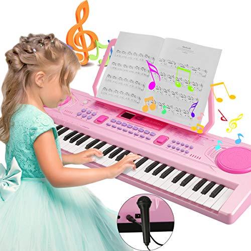 Magicfun Digital Keyboard, Digital Piano Mit 61 Tasten, Tragbare Elektronische Klaviertastatur inklusive...